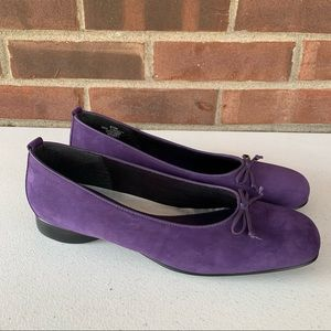 Naturalizer Purple Leather Slip On Flats women's